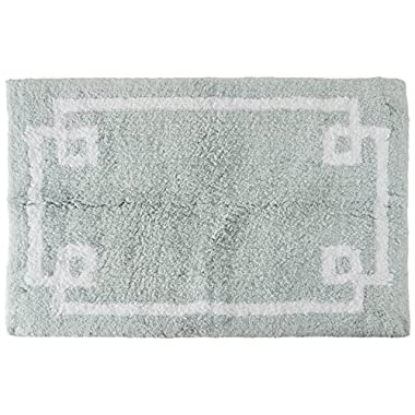 Madison Park Evan Cotton Tufted Washable Bath Mat, Luxury Solid Bathroom Rugs, 20X30 , Seafoam