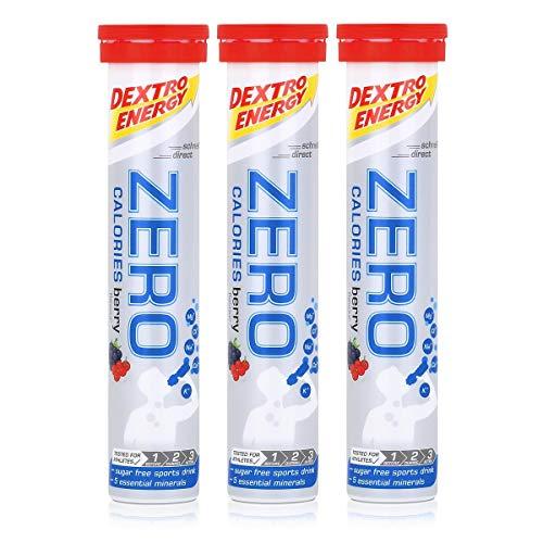 Dextro Energy Zero Calories Brausetabletten Berry flavour 80g (3er Pack)