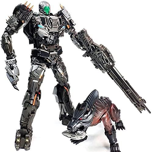 Siyushop Transformación Figura Figura Juguete Héroe Lavandería Camas Armas Luchas Robot Modelo Deformación Robot y Perro Modelo Modelo Toy Robot Lover Collector Salida Collector