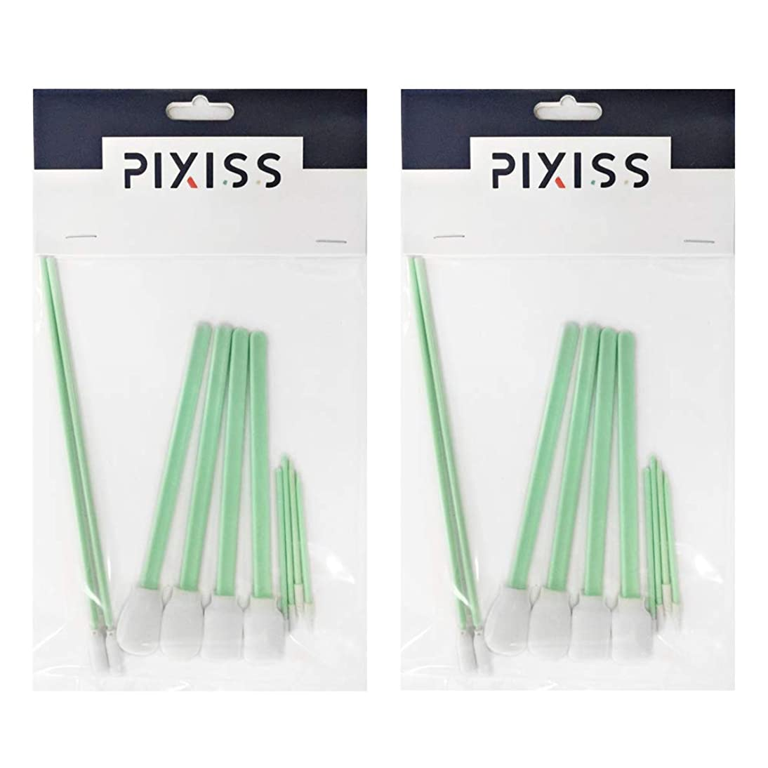 2 Pack - 10 Pixiss Detail Alcohol Ink Blending Tools (5 Different Sizes), Foam Tips for Blending Inks, Chalks, Markers, Pencil, Charcoal on Yupo Paper and Other Mediums