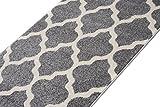 Carpeto Rugs Läufer Flur Teppich Modern Grau 70 x 150 cm Marokkanisches Muster Kurzflor Furuvik Kollektion - 5