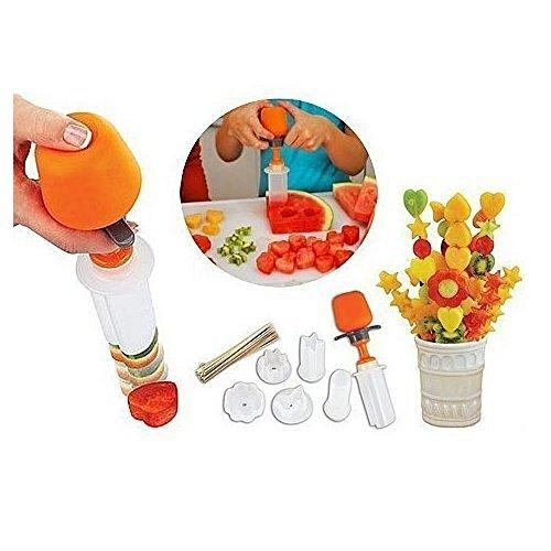 BlueBeach® 10 Pezzi per Tagliare Forme Carving da Frutta, è Dotato di 6 Forme