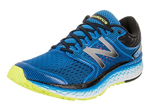 New Balance Men's Fresh Foam 1080 V7 Running Shoe, Electric Blue/Hi Lite, 11 D US