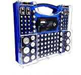 Battery Pro Organizer & Tester, Holds 100 Assorted Batteries - Blue