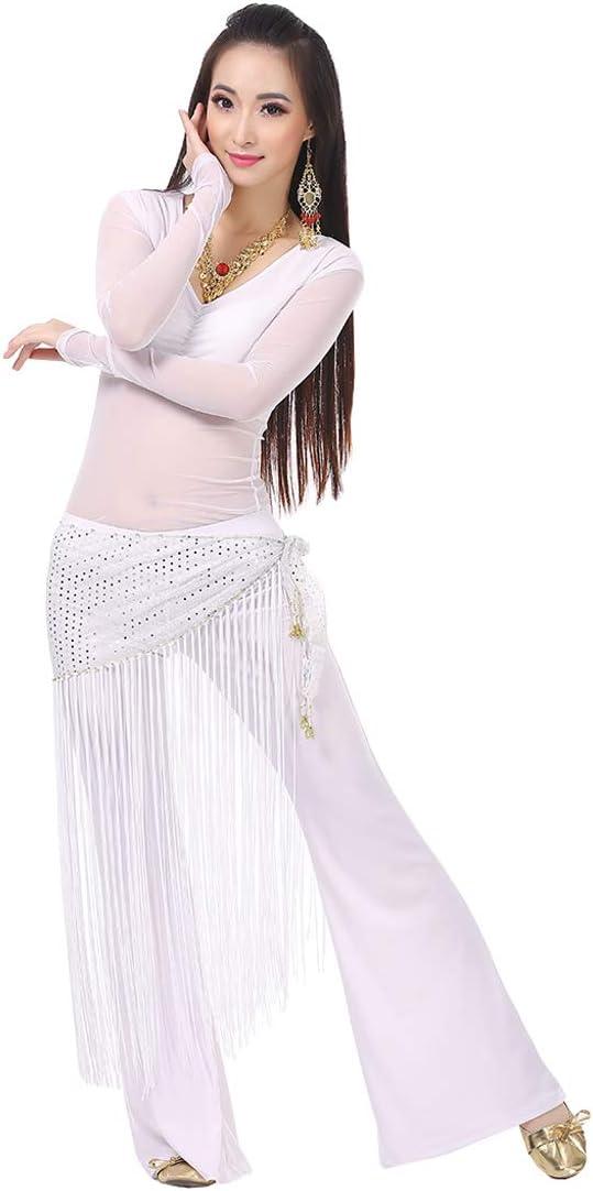 Calcifer Belly Dance Costume Set Tassel Belt for Adult Woman Gir