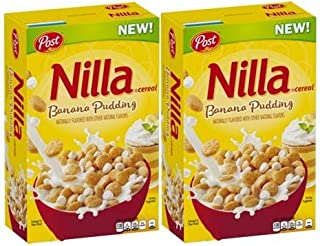 Nilla Banana Pudding Cereal by Post, (Pack of 2)