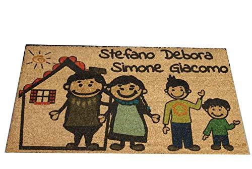 Zerbino Personalizzato da interno - Fumetto Famiglia e Tuoi...