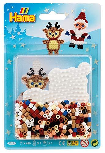Hama 4117 Kleine Blister-Packung Weihnachten, Bügelperlen Midi, ca. 450 Stück inklusive Stiftplatte Pinguin und Zubehör