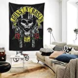 Vollior Guns-N'-Roses Tapestry Wall Hanging Bedding Tapestry 3D Printed Art Tapestry Home Decor Size: 80'X60'