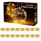 ☆『LOT DE 16 FAIRY LIGHTS』L'ensemble de 16 guirlandes LED à piles (CR2023 incluses) de belle finition en cuivre de haute qualité, flexible et compacte. Chacune a 3 mètres avec 30 LEDs blanc froid; mini boîte de batterie facile à cacher et parfait pour...