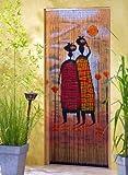 Rideau de porte en bambou Rideau en bambou Rideau de porte « Mombasa» env. 90x200 cm
