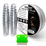 Flea and Tick Collar for Small Dog, Repels Fleas & Ticks, All Natural Active Ingredients, Allergy Prevention, 8-Month Protection, for Dogs Under 18 lbs and Cats,2 Packs