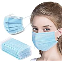 50-Pieces Mchoice Disposable Filters Bacteria Breathable Face Mask