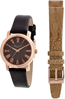 Kenneth Cole Women Brown Dial Leather Interchangeable Band Watch - 10022551