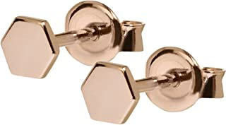 CLUSE Women's Essentielle Rose Gold Plated Sterling Silver Hexagon Stud Earrings CLJ50006