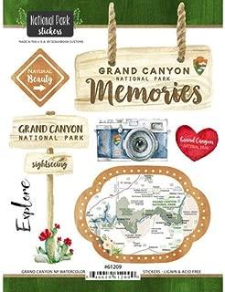 Scrapbook Customs 61209 Grand Canyon National Park Arizona Watercolor Stickers