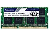 Timetec Hynix IC 4GB Compatible for Apple DDR3 1067MHz / 1066MHz PC3-8500 for Mac Book, Mac Book Pro, iMac, Mac Mini (Late 2008, Early/Mid/Late 2009, Mid 2010) MAC SODIMM Memory RAM Upgrade