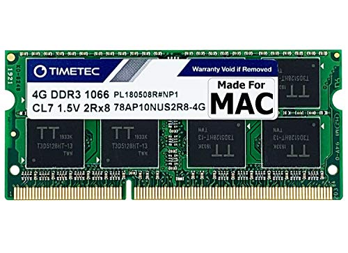 Timetec Hynix IC 4GB Compatible for Apple DDR3 1067MHz / 1066MHz PC3-8500 for MacBook, MacBook Pro, iMac, Mac Mini (Late 2008, Early/Mid/Late 2009, Mid 2010) MAC SODIMM Memory RAM Upgrade