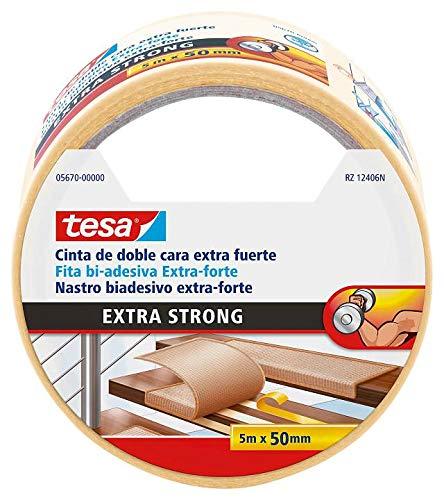 Tesa 5670 plakfolie voor vloeren, extra sterk, 5 m x 50 mm, transparant, 36 stuks