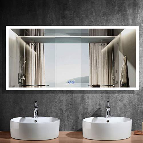 BHBL 84 x 40 in Horizontal Large LED Illuminated Bathroom Vanity Wall -