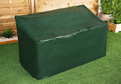 RAM® Gartenbank-Abdeckung für den Außenbereich, besonders strapazierfähig, geeignet für 3-Sitzer, wasserdicht, mit Eckösen und Sicherungsseilen - passend für Bänke bis 160cm (Banküberzug)