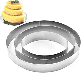 TAMUME Wedding Cake Mould Set - Oval, Pack of 3