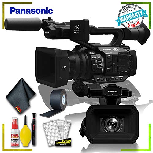 Lowest Price! Panasonic AG-UX180 4K Premium Professional Camcorder (International Model) + Cleaning ...