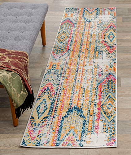Rugshop Sky Collection Bohemian Runner Rug