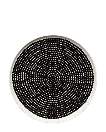 Marimekko - Oiva/Räsymatto Teller - Weiß/Schwarz - Ø25 cm