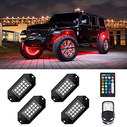 Vapeart RGB LED Rock Lights 90 LEDs Multicolor Neon Underglow Waterproof Music Lighting Kit with APP /& RF Control for Jeep Off Road Truck Car ATV SUV Motorcycle(6 Pods)-Ship from America