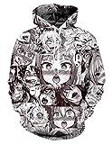 Men Women Long Sleeve Sweatshirt Anime Funny 3D Pattern Otaku Pullover Hoodie
