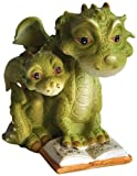 Top Collection Miniatur Feengarten und Terrarium Mama Drache lesbar mit Babystatue
