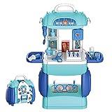 Buding Bata médica para niños, disfraz de juego de rol, juguetes médicos, maletín de doctor, maletín de juguete, regalo para niños a partir de 3 4 años, 23,5 x 14,5 x 20,5 cm