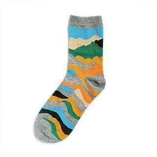 calcetín 1 par de Calcetines de Hombre nuevos Peinados Casuales Coloridos Calcetines de algodón para Calcetines Masculinos