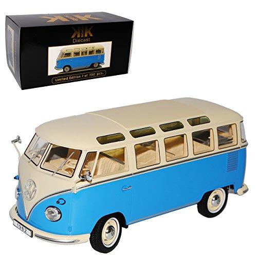 KK-Scale Volkwagen T1 Blau Creme Samba Bully Bus 1950-1967 limitiert auf 750 Stück 1/18 Modell Auto