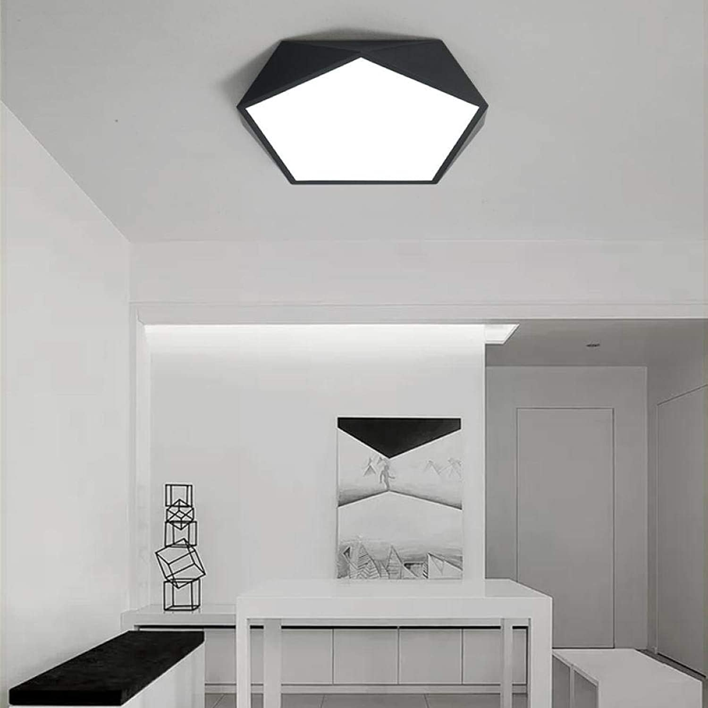Led Deckenleuchten, Eisen Deckenleuchte Ultradünne Modellierungsfarbe Kinderzimmer Schlafzimmer Energiesparende Led Deckenleuchte Zweifarbige Leuchte Schwarz
