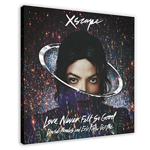 Poster su tela, motivo: cantante e ballerino, Michael Jackson XSCAPE The Album copertina 1 poster su tela da parete, decorazione per soggiorno, camera da letto, 70 x 70 cm, stile cornice1