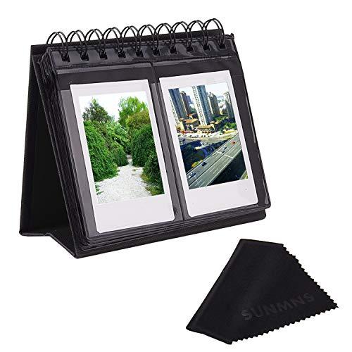 Sunmns Desk Table Calendar Style Photo Album Compatible with Fujifilm Instax Mini 11 9 8 70 90 26 Camera Films/Mini Link Smartphone Printer Photos, Black