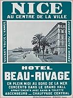 ERZAN大人のパズル木製パズル1000ニースフランスフレンチホテルボー-リヴァージュヴィンテージ旅行広告大人子供パズル