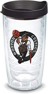 Tervis 1051579 NBA Boston Celtics Primary Logo Tumbler with Emblem and Black Lid 16oz, Clear