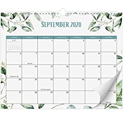 """BE ORGANIZED IN 2021 & STAY ON TOP OF THINGS: With the gorgeous greenery wall calendar (14.5"""" x 11.5"""") planning ahead for 2021 & boosting your productivity is super easy! See all appointments, deadlines, birthdays, US holidays & other dates (Valentin..."""