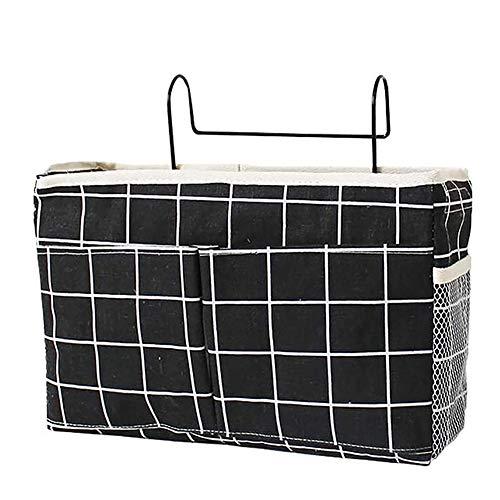 SETSCZY Bedside Storage Pocket/Bedside Hanging Storage Bag for Headboards Bunk Beds Dorm Rooms Organizing Mobile Phone, Magazine, Glasses