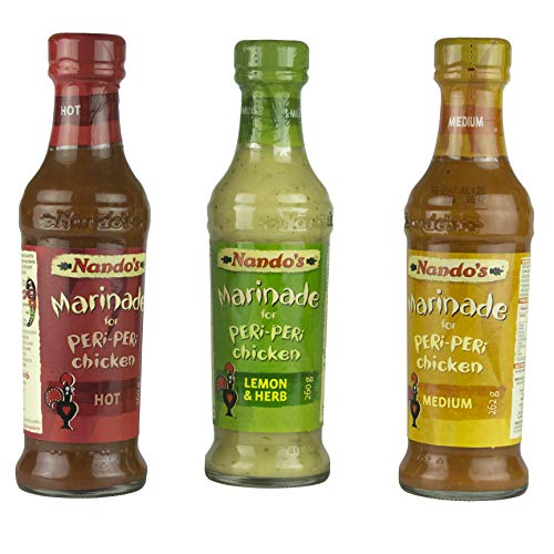 Nando's Peri-Peri Sauce 260g Triple Pack Medium, Lemon & Herb and Hot