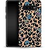 Premium - Carcasa para Samsung Galaxy S10 Plus, diseño de Palmeras de Leopardo