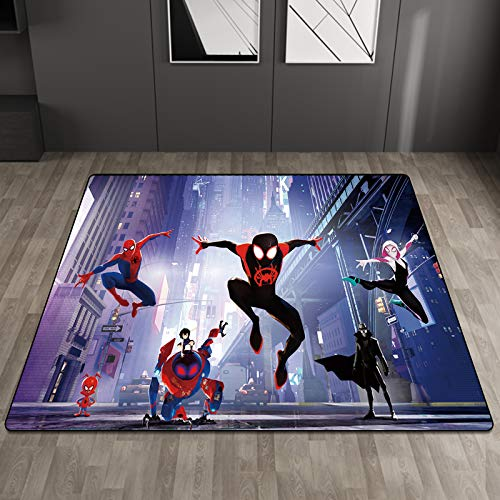 Kele Tapis Anime Enfants Violet Creative Spiderman Décoration De La Maison Garçon Fille Salon Salle De Bains Tapis De Porte Antidérapant Tapis De Sol 100 * 160cm