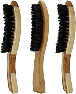 Beaupretty 3 stuks baardkwasten met lange handgreep, hout, clubstijl, golf, wild zwijn, haarborstel, baardverzorgingskwas...