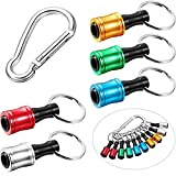 1/4 Inch Hex Shank Keychain, Extension Bar Screwdriver Bits, Holder Socket Adapter Drill Bit, Fast Change Bit Holder for Electric Screwdrivers and Drill Bits (Assorted Colors,10 Pieces)