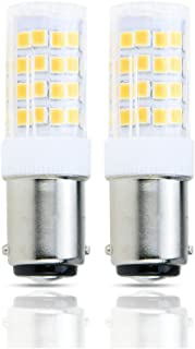 Lamsky LED BA15D Double Contact Bayonet Base 120 Volts 4W Led Light Bulb,T3/T4/C7/S6,Warm White 2700K,LED 40W Halogen Replacement Bulb,No-Dimmable,2-Pack