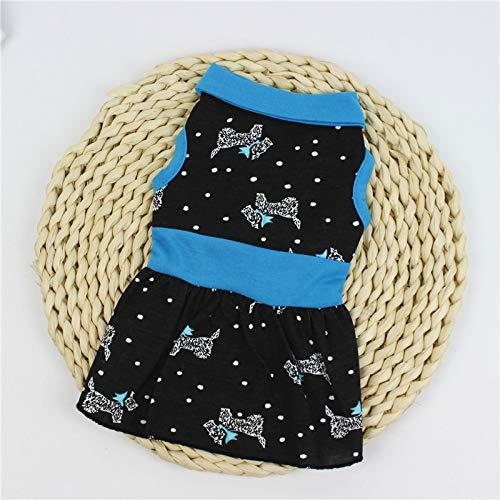 QZXCD kleding voor huisdieren, klassiek, creatief, voor lente en zomer, met bedrukte hondenok, S, Ik