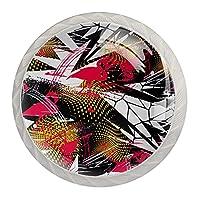 引き出しノブプルハンドル4個 クリスタルガラスのキャビネットの引き出しは食器棚のノブを引っ張る,ネジ付き、ホームオフィスキャビネット食器棚ドレッサー用
